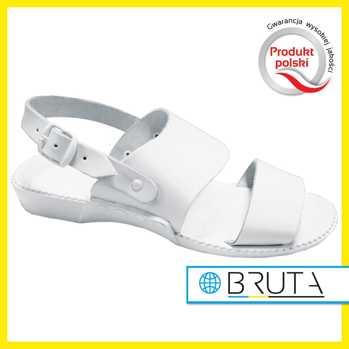 35c7a557 Sandały medyczne damskie 01A białe